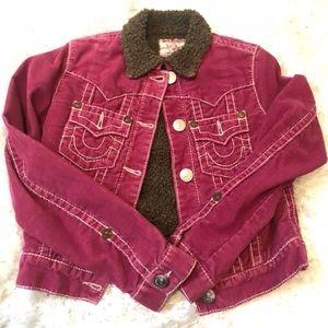 LIKE NEW Pink True Religion corduroy Jacket SZ M